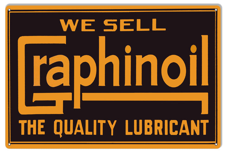 Graphinoil Reproduction Motor Oil Metal  Sign 12″x18″