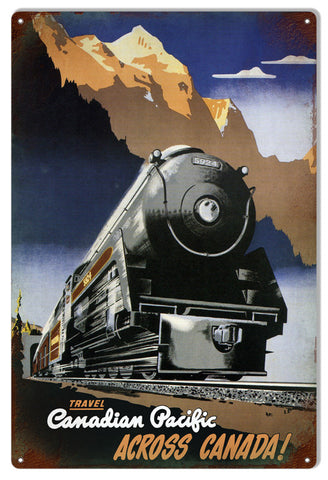 Canadian Pacific Railroad Reproduction Metal  Sign 12″x18″