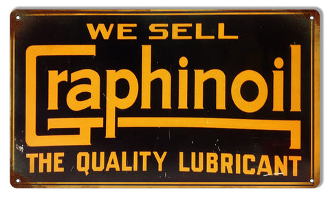 Reproduction Graphinoil Metal  Sign 8″x14″