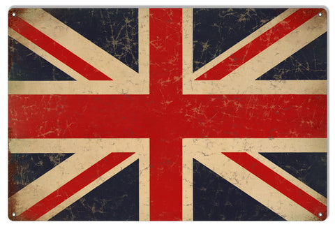 British Flag Country And State Reproduction Metal  Sign 12″x18″