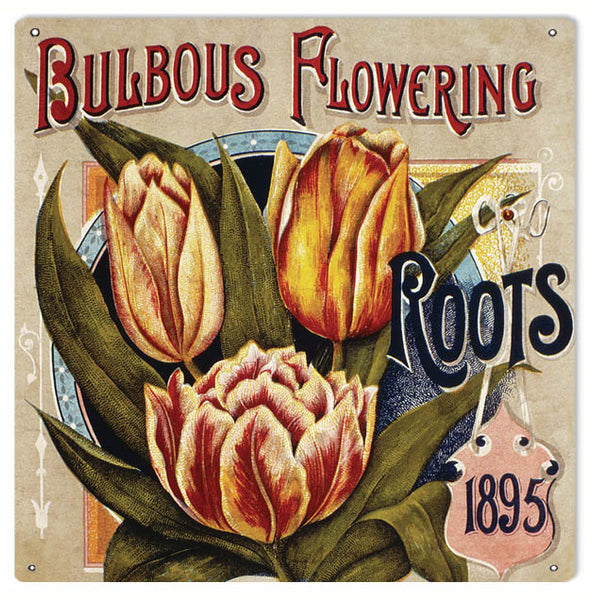 Bulbous Flowering Reproduction Sign 12x12