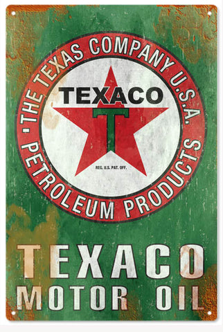 Texaco Reproduction Motor Oil 12x18 Sign
