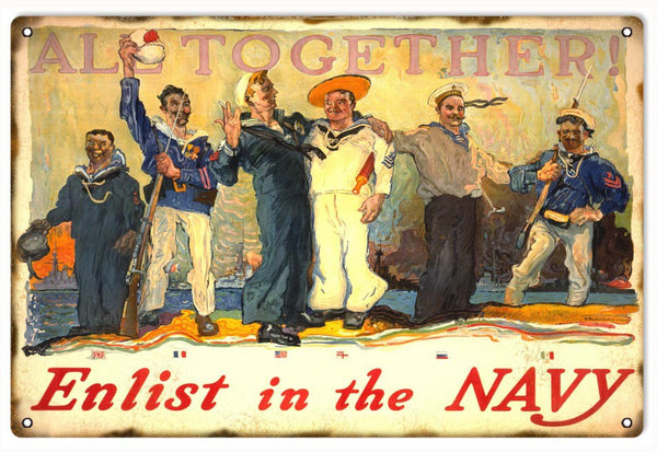 All Together Enlist In The Navy Sign