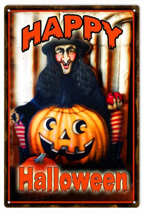Reproduction Happy Halloween Sign