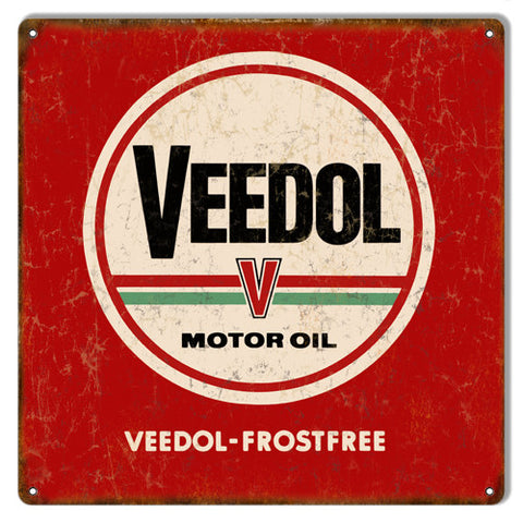Frostfree Veedol Reproduction Motor Oil Metal  Sign 12″x12″