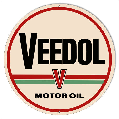 Motor Oil Veedol Garage Shop Reproduction Metal  Sign 14″x14″