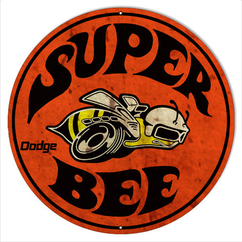 Super Bee Dodge Reproduction Motor Oil Metal  Sign 14″x14″