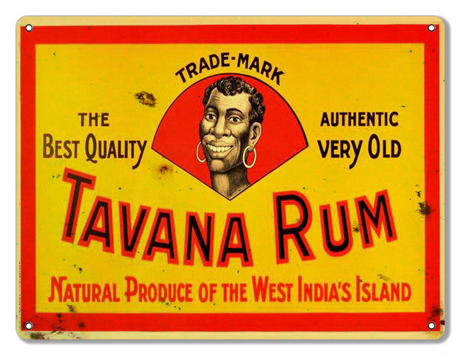 Tavana Rum Reproduction Bar Metal  Sign 9″x12″