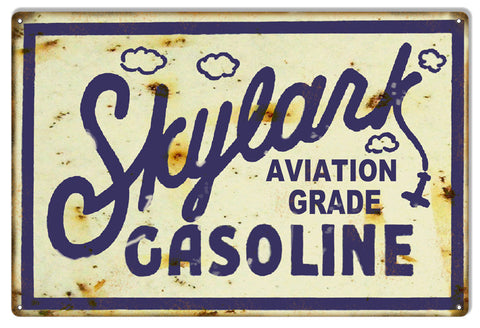Skylark Gasoline Reproduction Motor Oil Metal  Sign 12″x18″