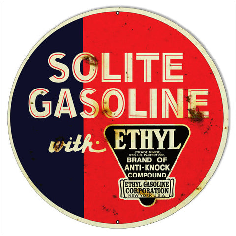 Solite Gasoline Motor Oil Reproduction Metal  Sign 14″x14″