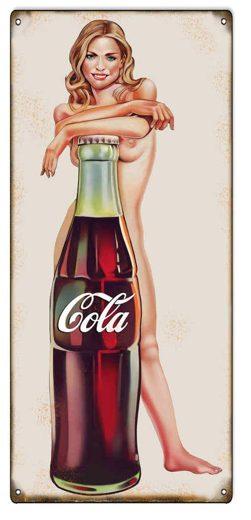 COCA COLA LARGE FRAMED 15 X 18 COUNTRY RUSTIC MATTED PRINT MAN GIRL DOG