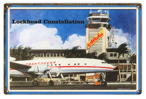 Trans Ocean Aloha Airlines Reproduction Aviation Sign 12x18