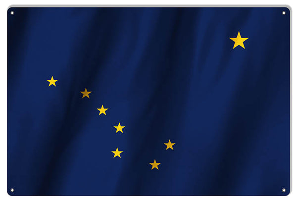 Alaska State Flag Reproduction Metal Sign 12x18