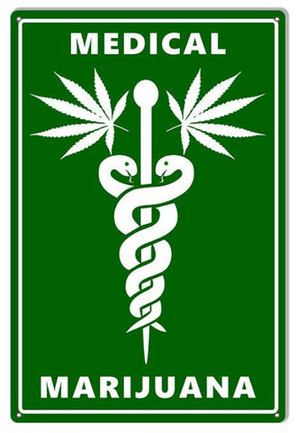Medical Marijuana Cannabis Sign. 12″×18″