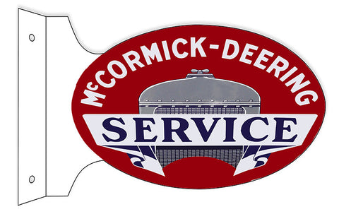 McCormick-Deering Flange Oval Garage Shop Reproduction Sign 12″x18″