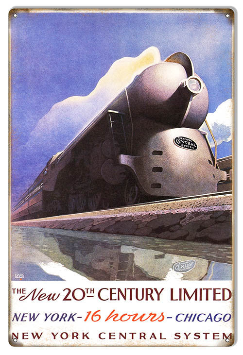 New 20Th Century NY Central System Railroad Reproduction Sign 12″x18″