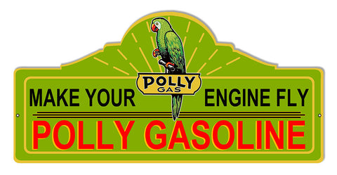 Engine Fly Polly Motor Oil Laser Cut Out Reproduction Sign 23″x11.1/4″