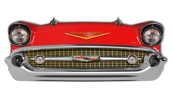 Red Front End Chevrolet Laser Cut Out Reproduction Sign 24.5″ X 10″