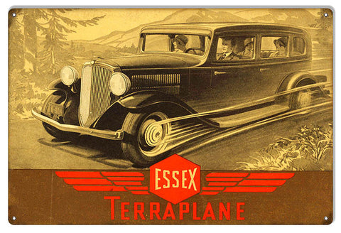 Essex Terraplane Hudson Vintage Automobile Reproduction Sign 12″x18″