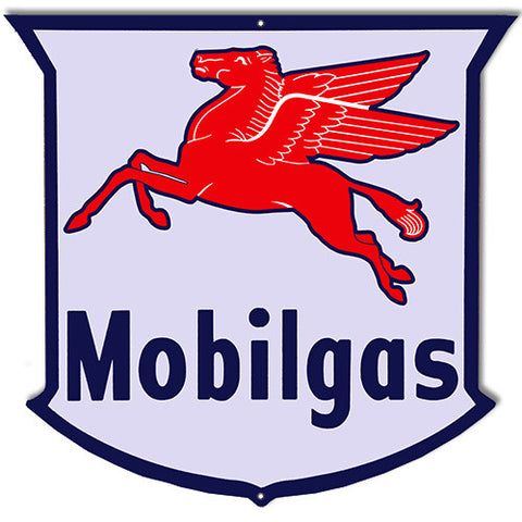 Mobilgas Laser Cut Out Reproduction Sign 16″X16″