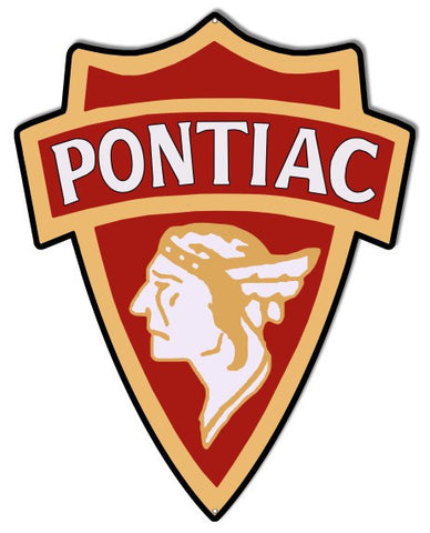 Pontiac Laser Cut Out Reproduction Sign 16″ X 20″
