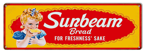 Freshness Sunbeam Bread Country Reproduction Sign 6″X18″