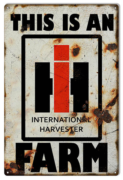Distressed Harvester Farm Country Reproduction Sign 12″x18″