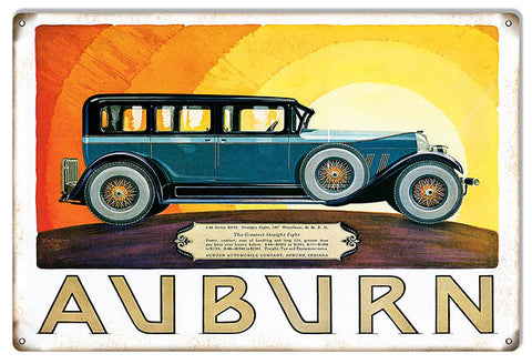 Auburn Vintage Automobile Garage Shop Reproduction Sign 12″x18″