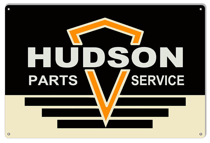 Hudson Parts And Service Garage Shop Reproduction Sign 12″x18″