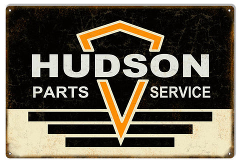 Large Distressed Hudson Parts Garage Shop Reproduction Sign 16″x24″