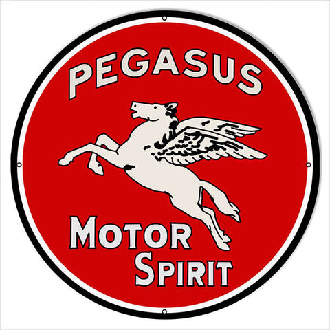 Extra Large Pegasus Motor Oil Reproduction Sign 24″ Round