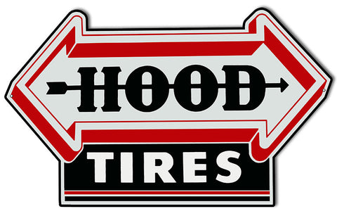 Hood Tires Laser Cut Out Garage Shop Reproduction Sign 15″x24″