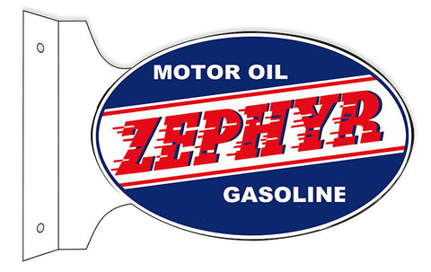 Zephyr Motor Oil Flange Oval Reproduction Sign 12″x18″