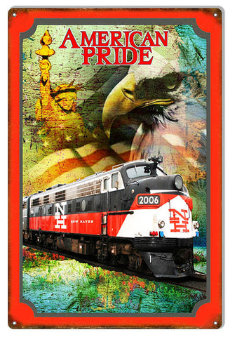 Aged American Pride New Haven Railroad Reproduction Sign 12″x 18″