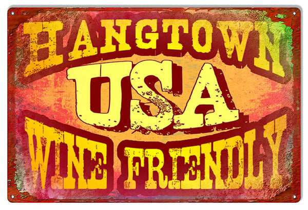 Hangtown Wine Reproduction Sign By Artist Phil Hamilton 12″x18″