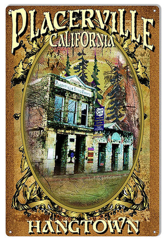 Placerville Cosmic Cafe Reproduction Sign By Artist Phil Hamilton 12″x18″
