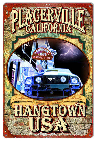 Hangman's Tree Placerville Casing By Artist Phil Hamilton 12″x18″
