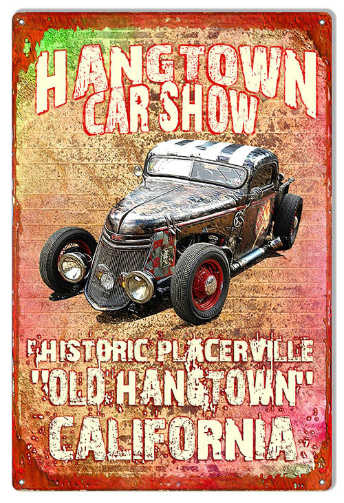Car Show Placerville Reproduction Sign By Artist Phil Hamilton 12″x18″