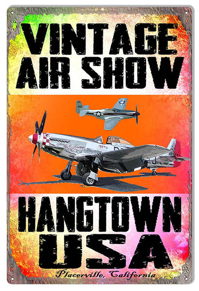 Air Show Hangtown Reproduction Sign By Artist Phil Hamilton 12″x18″