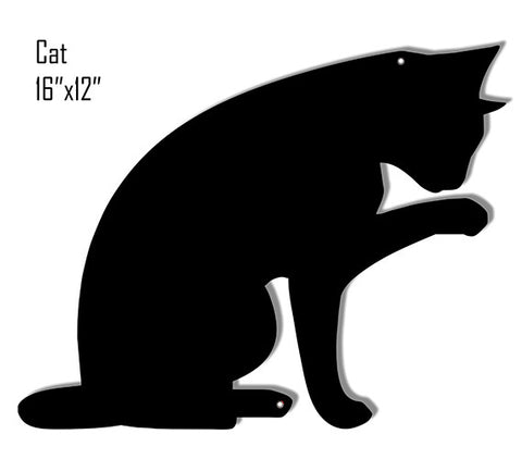 Black Cat Laser Cut Out Reproduction Sign 12″x16″