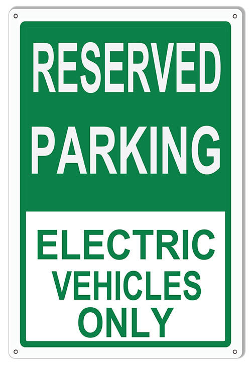 Electric Vehicles Only Parking Reproduction Sign 12″x18″