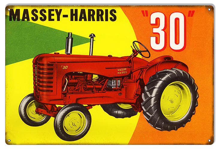 Distressed Massey Harris 30 Country Reproduction Sign 12″x18″