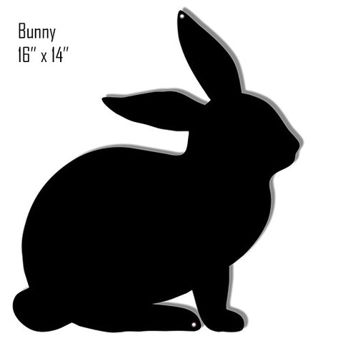 Bunny Black Silhouette Laser Cut Out Reproduction Sign 14″x16″
