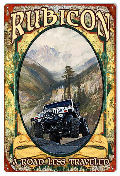 Jeep Rubicon Road Less Traveled By Artist Phil Hamilton 12″x18″