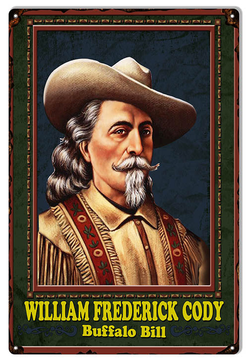 Buffalo Bill Nostalgic Reproduction Sign 12″x18″