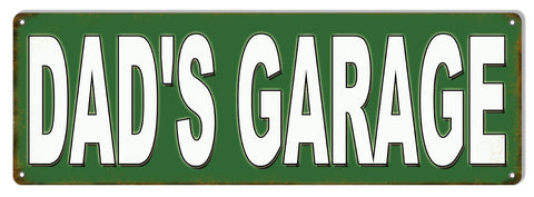 Dads Garage Motor Oil Reproduction Sign 6″x18″