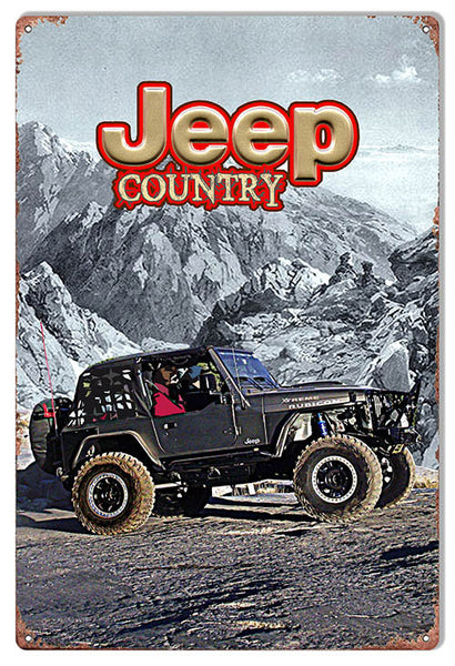 Jeep Country Reproduction Sign By Artist Phil Hamilton 12″x18″