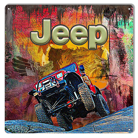 12″x12″ Jeep Reproduction Sign By Artist Phil Hamilton