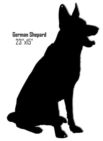 German Shepherd Dog Laser Cut Out Reproduction Sign 15″x23″