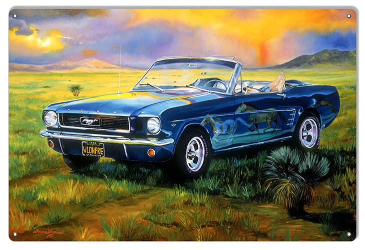 Wild N Free Blue Mustang By Artist Donna Wayman-Mauer 12″x18″